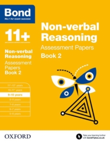 Bond 11+: Non-verbal Reasoning: Assessment Papers : 9-10 years Book 2, Paperback / softback Book