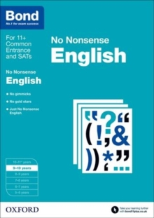 Bond: English: No Nonsense : 9-10 Years, Paperback Book