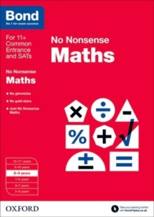 Bond: Maths: No Nonsense : 8-9 Years, Paperback Book