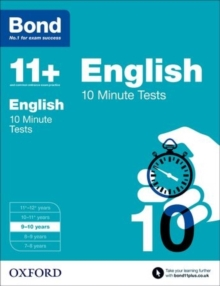 Bond 11+: English: 10 Minute Tests : 9-10 Years, Paperback Book