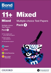 Bond 11+: Mixed: Multiple-choice Test Papers : Pack 1, Paperback Book