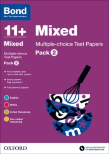 Bond 11+: Mixed: Multiple-choice Test Papers : Pack 2, Paperback Book