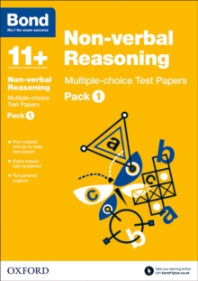 Bond 11+: Non-verbal Reasoning: Multiple-choice Test Papers : Pack 1, Paperback / softback Book