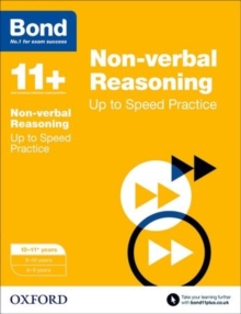 Bond 11+: Non-verbal Reasoning: Up to Speed Papers : 10-11+ years, Paperback Book