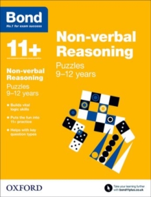 Bond 11+: Non-verbal Reasoning: Puzzles : 9-12 years, Paperback Book