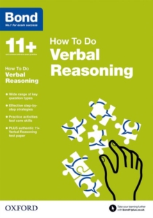 Bond 11+: Verbal Reasoning: How to Do, Paperback Book