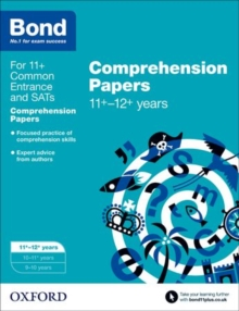 Bond 11+: English: Comprehension Papers : 11+-12+ years, Paperback Book