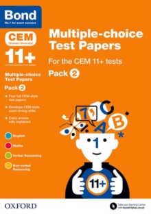 Bond 11+: Multiple-choice Test Papers for the CEM 11+ tests Pack 2, Paperback Book