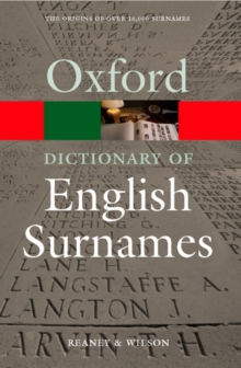 A Dictionary of English Surnames, Paperback Book