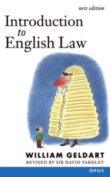 Introduction to English Law, Paperback Book