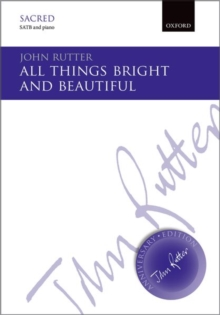 All things bright and beautiful, Sheet music Book
