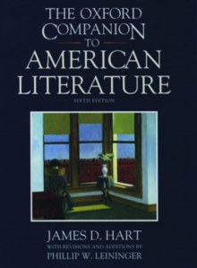 The Oxford Companion to American Literature, Hardback Book