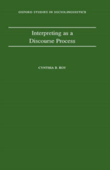 Interpreting as a Discourse Process, Hardback Book