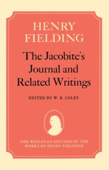 The Jacobite's Journal and Related Writings, Hardback Book