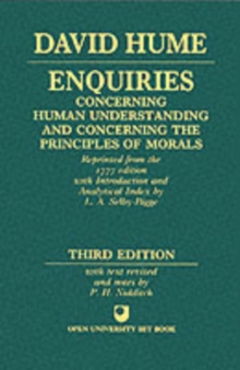 Enquiries Concerning Human Understanding and Concerning the Principles of Morals, Paperback Book
