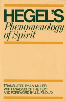 Phenomenology of Spirit, Paperback Book