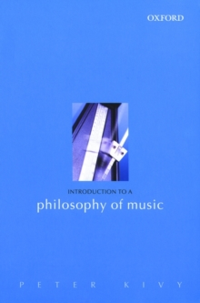 Introduction to a Philosophy of Music, Paperback / softback Book