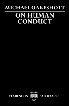 On Human Conduct, Paperback / softback Book