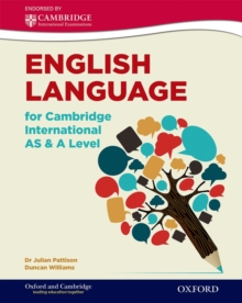 English Language for Cambridge International AS & A Level : Student Book, Paperback Book