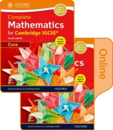 Complete Mathematics for Cambridge IGCSE (R) Print & Online Student Book (Core), Mixed media product Book
