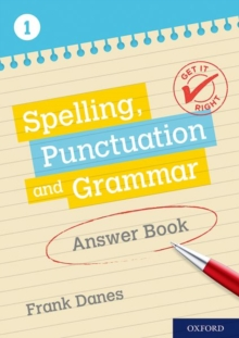 Get It Right: KS3; 11-14: Spelling, Punctuation and Grammar Answer Book 1, Paperback / softback Book