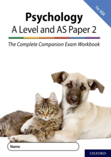 The Complete Companions for AQA Fourth Edition: 16-18: The Complete Companions: A Level Year 1 and AS Psychology: Paper 2 Exam Workbook for AQA, Paperback / softback Book