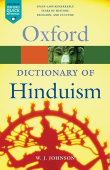 A Dictionary of Hinduism, Paperback Book