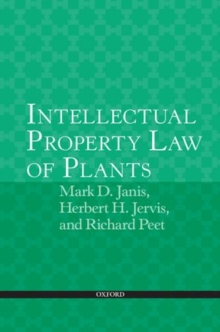 Intellectual Property Law of Plants, Paperback / softback Book