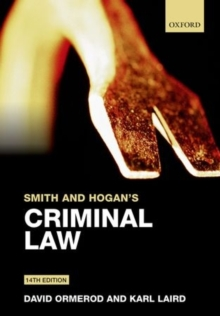 Smith and Hogan's Criminal Law, Paperback Book