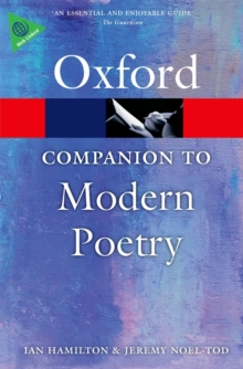 The Oxford Companion to Modern Poetry in English, Paperback / softback Book