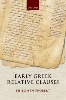 Early Greek Relative Clauses, Hardback Book
