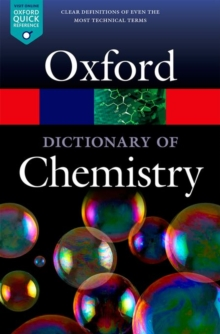 A Dictionary of Chemistry, Paperback Book