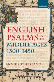 English Psalms in the Middle Ages, 1300-1450, Hardback Book