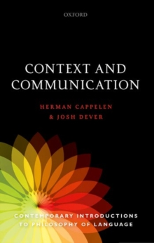 Context and Communication, Paperback Book