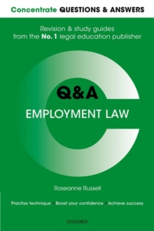 Concentrate Questions and Answers Employment Law : Law Q&A Revision and Study Guide, Paperback / softback Book