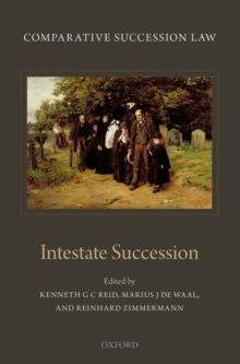 Comparative Succession Law : Volume II: Intestate Succession, Hardback Book