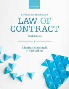 Koffman & Macdonald's Law of Contract, Paperback / softback Book