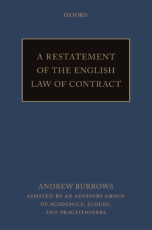 A Restatement of the English Law of Contract, Paperback / softback Book