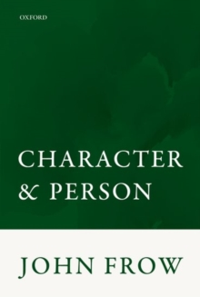 Character and Person, Paperback Book
