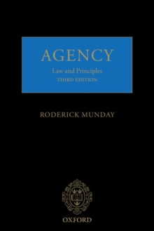 Agency : Law and Principles, Paperback / softback Book
