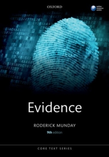 Evidence, Paperback Book