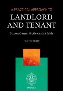 A Practical Approach to Landlord and Tenant, Paperback / softback Book