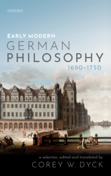 Early Modern German Philosophy (1690-1750), Hardback Book