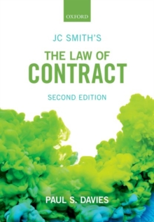 JC Smith's The Law of Contract, Paperback / softback Book