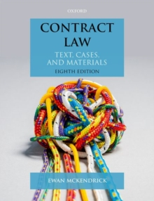 Contract Law : Text, Cases, and Materials, Paperback / softback Book