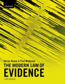 The Modern Law of Evidence, Paperback / softback Book