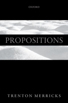 Propositions, Paperback / softback Book