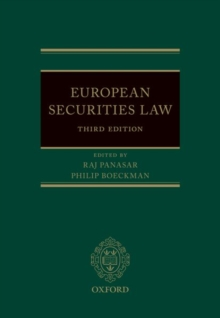 EUROPEAN SECURITIES LAW 3E HARDBACK, Hardback Book