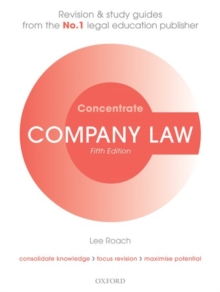 Company Law Concentrate : Law Revision and Study Guide, Paperback / softback Book