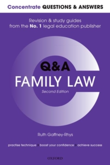 Concentrate Questions and Answers Family Law : Law Q&A  Revision and Study Guide, Paperback / softback Book